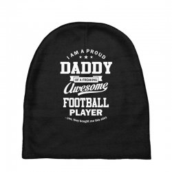 Men's Football Daddy Baby Beanies | Artistshot