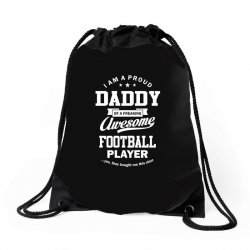 Men's Football Daddy Drawstring Bags | Artistshot