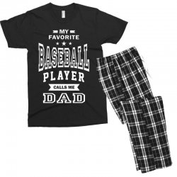Men's Baseball Dad Men's T-shirt Pajama Set | Artistshot