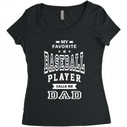 Men's Baseball Dad Women's Triblend Scoop T-shirt | Artistshot