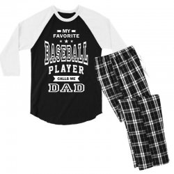 Men's Baseball Dad Men's 3/4 Sleeve Pajama Set | Artistshot