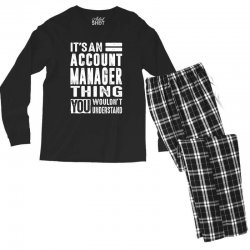Account Manager Thing Men's Long Sleeve Pajama Set | Artistshot