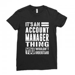 Account Manager Thing Ladies Fitted T-Shirt | Artistshot