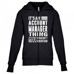 Account Manager Thing Youth Zipper Hoodie | Artistshot