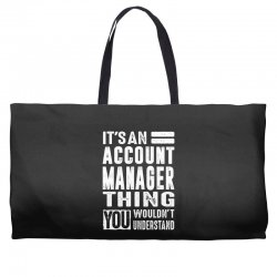 Account Manager Thing Weekender Totes | Artistshot