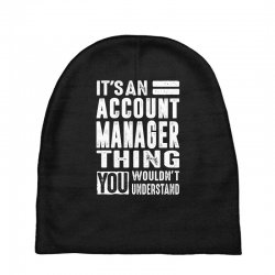 Account Manager Thing Baby Beanies | Artistshot