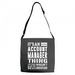 Account Manager Thing Adjustable Strap Totes | Artistshot