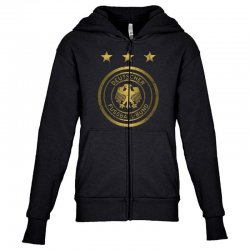 deutscher fussball bund Youth Zipper Hoodie | Artistshot