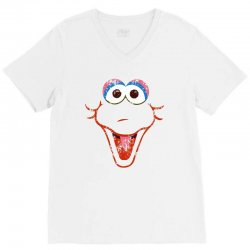 big bird face V-Neck Tee | Artistshot