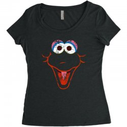 big bird face Women's Triblend Scoop T-shirt | Artistshot