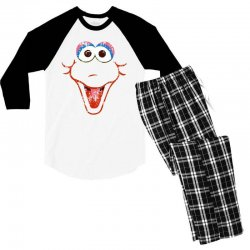big bird face Men's 3/4 Sleeve Pajama Set | Artistshot