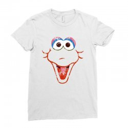 big bird face Ladies Fitted T-Shirt | Artistshot