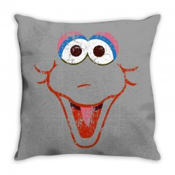 big bird face Throw Pillow | Artistshot