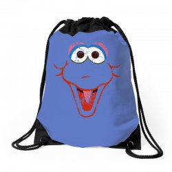 big bird face Drawstring Bags | Artistshot