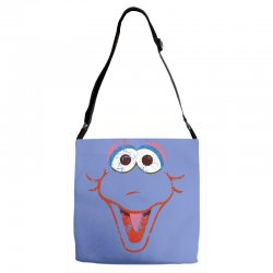 big bird face Adjustable Strap Totes | Artistshot