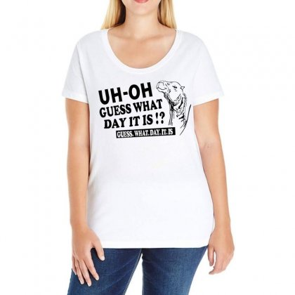 Funny Line Art Hump Day Camel Ladies Curvy T-shirt Designed By Banapeth