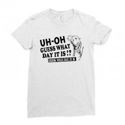 Funny line art hump day camel Ladies Fitted T-Shirt | Artistshot
