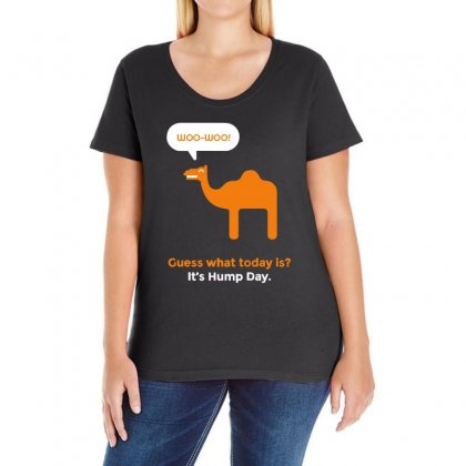 Hump Day Camel Ladies Curvy T-shirt Designed By Banapeth