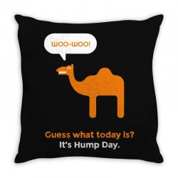 hump day camel Throw Pillow | Artistshot