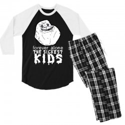 forever the sickest kids forever alone Men's 3/4 Sleeve Pajama Set | Artistshot