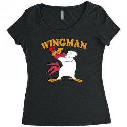 funny wingman Women's Triblend Scoop T-shirt | Artistshot