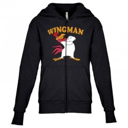 funny wingman Youth Zipper Hoodie | Artistshot