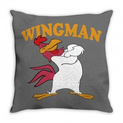 funny wingman Throw Pillow | Artistshot