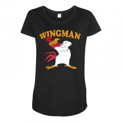 funny wingman Maternity Scoop Neck T-shirt | Artistshot