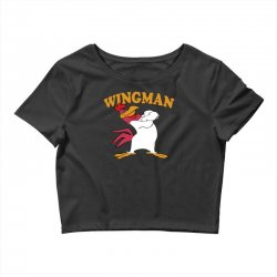 funny wingman Crop Top | Artistshot