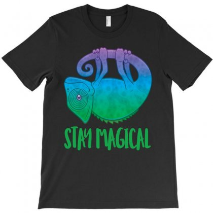 Stay Magical Levitating Chameleon T-shirt Designed By Fizzgig
