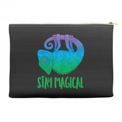Stay Magical Levitating Chameleon Accessory Pouches | Artistshot