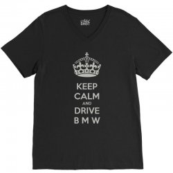 funny saying keep calm new V-Neck Tee | Artistshot