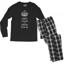 funny saying keep calm new Men's Long Sleeve Pajama Set | Artistshot