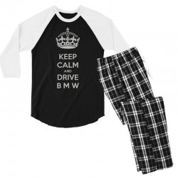 funny saying keep calm new Men's 3/4 Sleeve Pajama Set | Artistshot