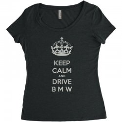 funny saying keep calm new Women's Triblend Scoop T-shirt | Artistshot