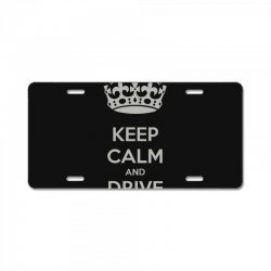 funny saying keep calm new License Plate | Artistshot