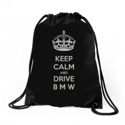 funny saying keep calm new Drawstring Bags | Artistshot