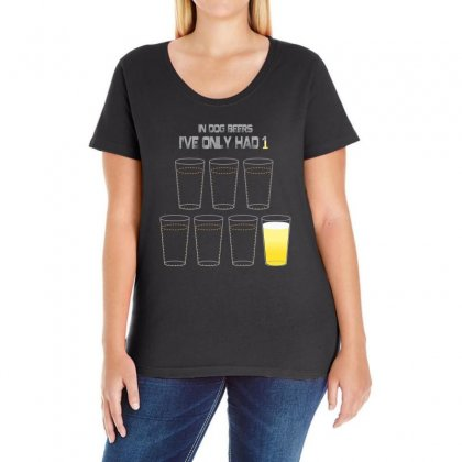 Dog Beers Ladies Curvy T-shirt Designed By Banapeth