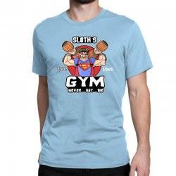 funny gym sloth the goonies fitness t shirt vectorized Classic T-shirt | Artistshot