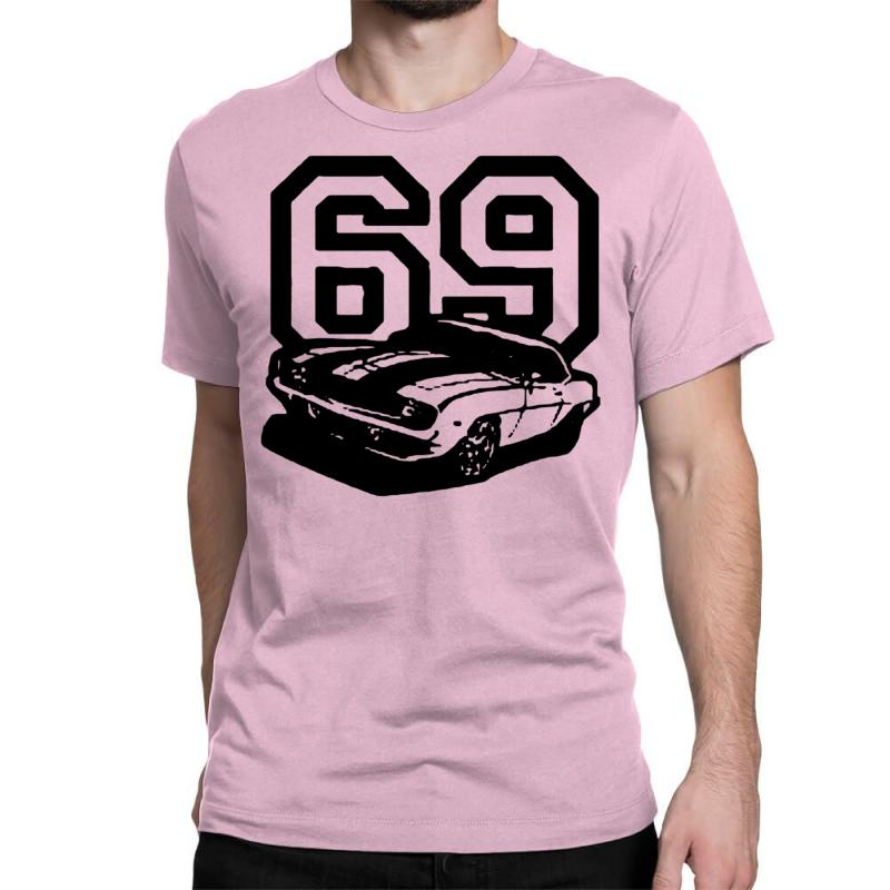 d3eeb455a Custom 1969 69 Classic Retro Vintage Muscle Car Classic T-shirt By ...