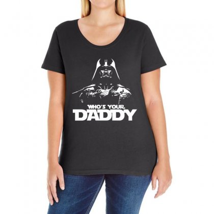 Funny Who's Your Daddy Ladies Curvy T-shirt Designed By Banapeth