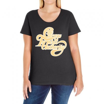 Chicago Transit Authority Band Ladies Curvy T-shirt Designed By Banapeth