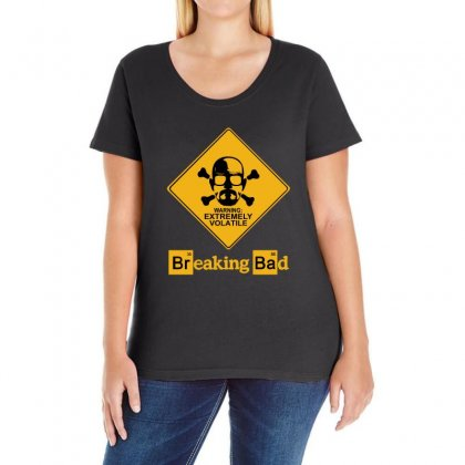 Breaking Bad Extremly Volatile New Ladies Curvy T-shirt Designed By Banapeth