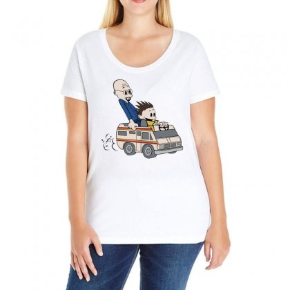 Breaking Bad Calvin And Hobbes Ladies Curvy T-shirt Designed By Banapeth