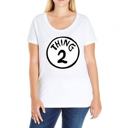 Cat Hat Thing 2 Ladies Curvy T-shirt Designed By Banapeth