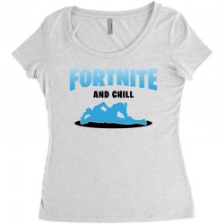 fortnite and chill Women's Triblend Scoop T-shirt | Artistshot