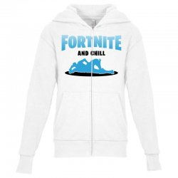 fortnite and chill Youth Zipper Hoodie | Artistshot