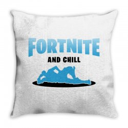 fortnite and chill Throw Pillow | Artistshot