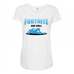 fortnite and chill Maternity Scoop Neck T-shirt | Artistshot
