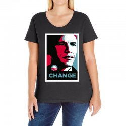 alpha obama Ladies Curvy T-Shirt | Artistshot
